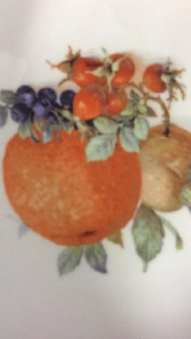8 Winterling Germany Painted Fruit Porcelain - 4