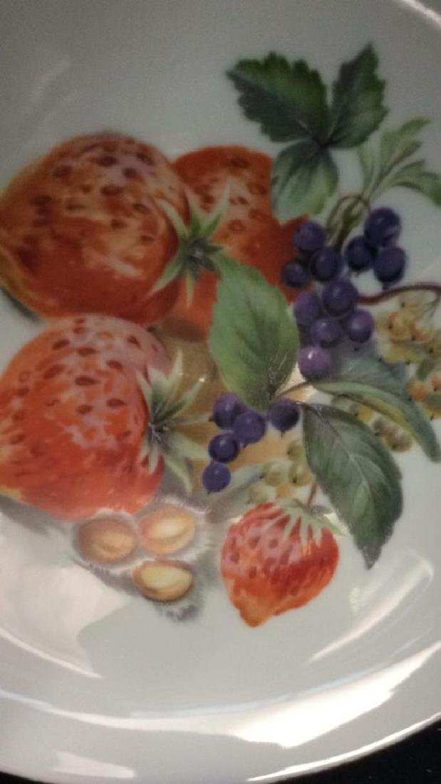 8 Winterling Germany Painted Fruit Porcelain - 8