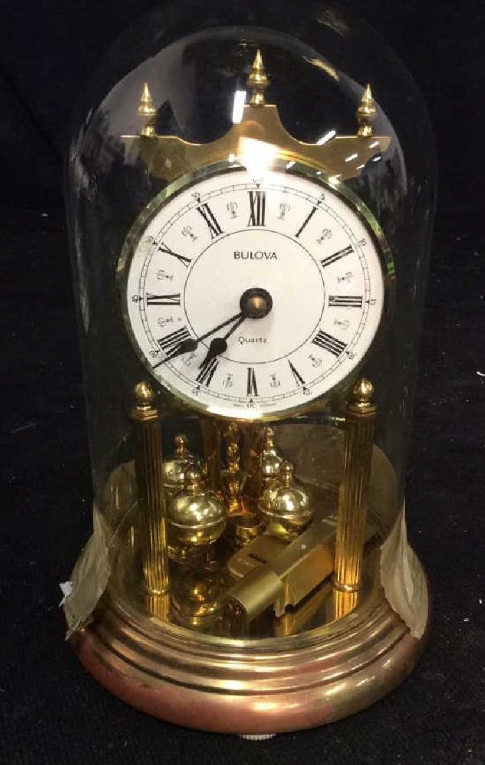 Bulova Quarts Spinning Ball Domed Clock