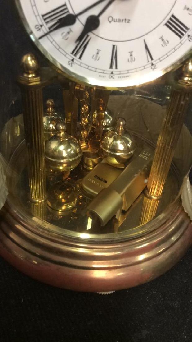 Bulova Quarts Spinning Ball Domed Clock - 2