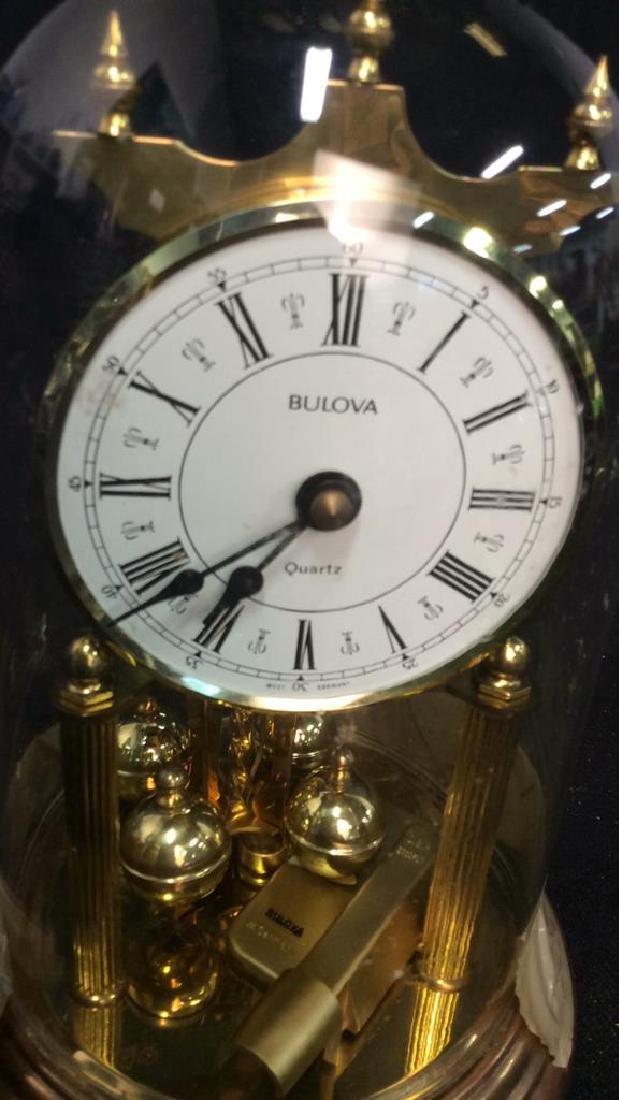 Bulova Quarts Spinning Ball Domed Clock - 3