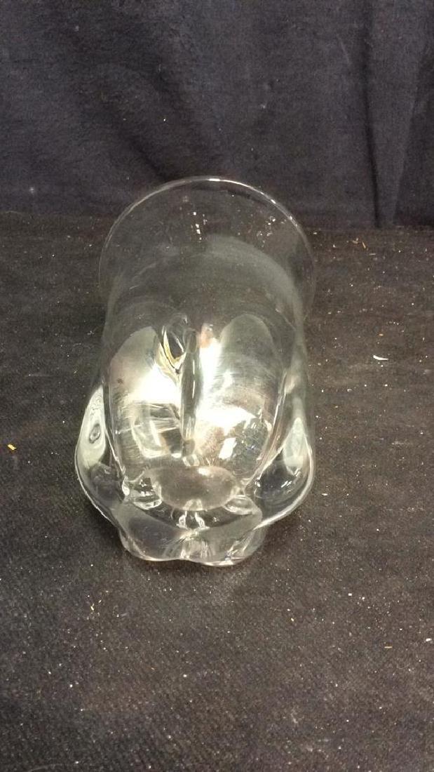 Muffano Vintage Crystal Vase Signed - 5