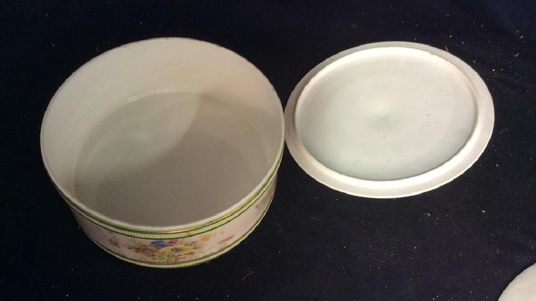 RIPON, Hand Painted Lidded Bowl w Underplate - 10