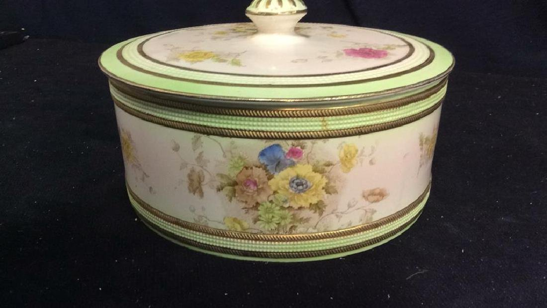 RIPON, Hand Painted Lidded Bowl w Underplate - 2