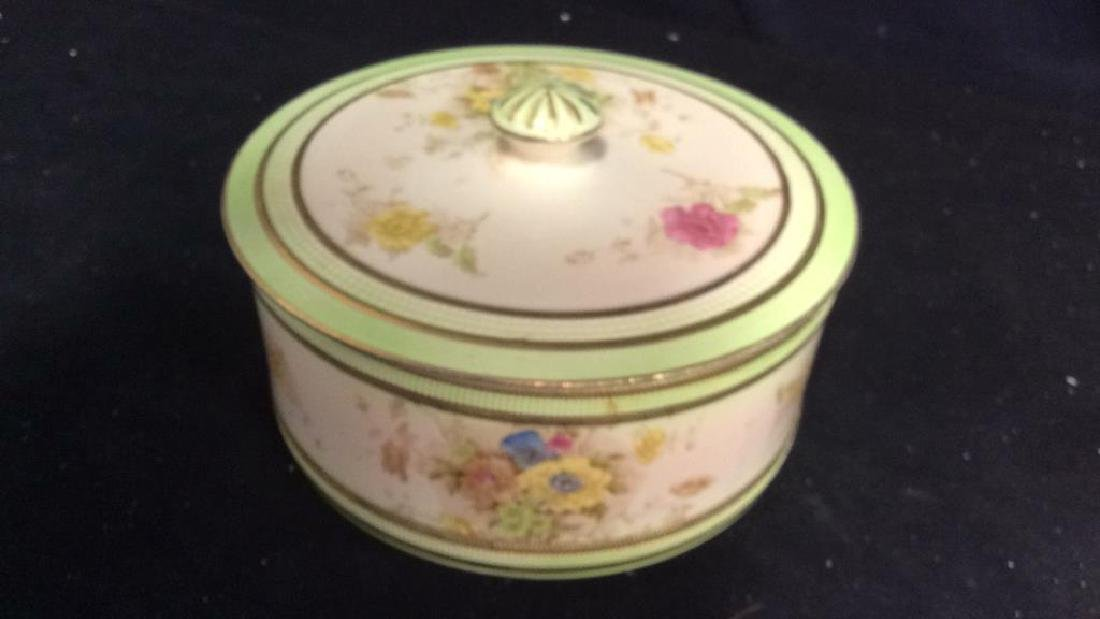 RIPON, Hand Painted Lidded Bowl w Underplate - 4