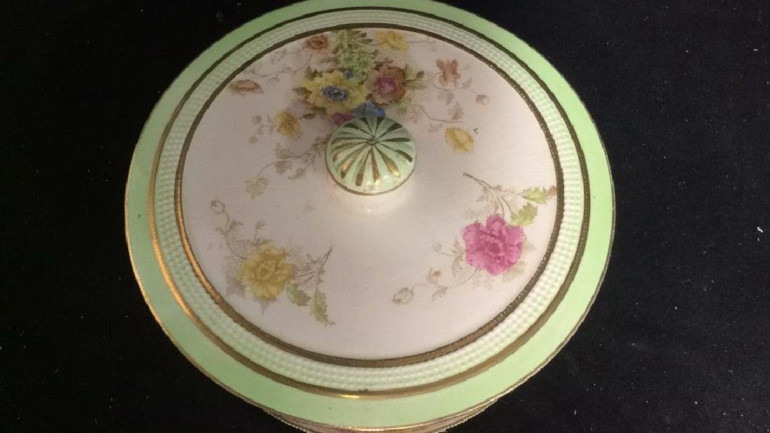 RIPON, Hand Painted Lidded Bowl w Underplate - 5