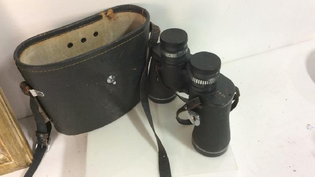 Vintage Feather Weight Binoculars w Case - 2