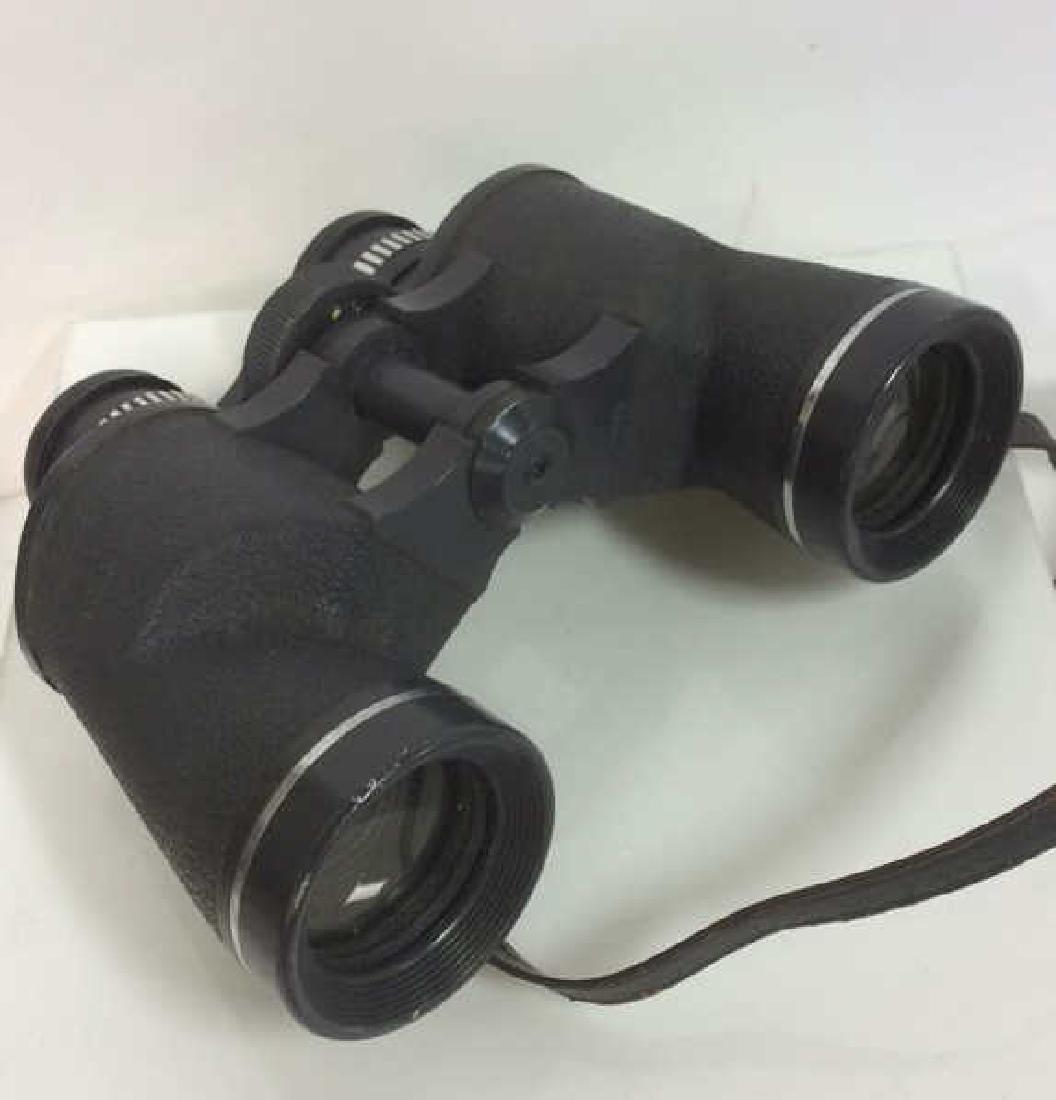 Vintage Feather Weight Binoculars w Case - 4
