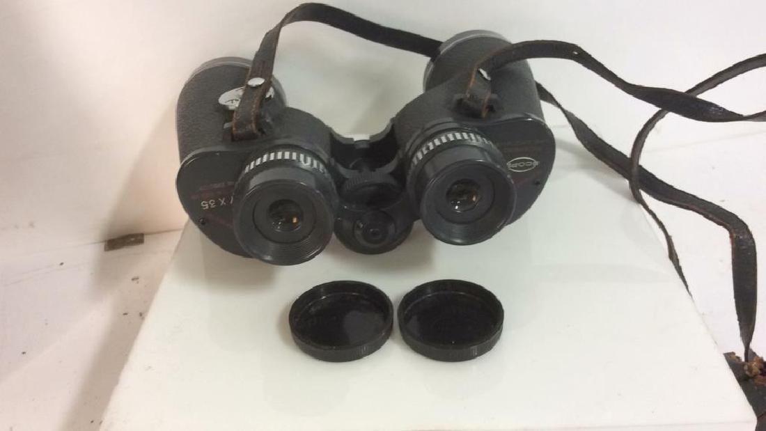 Vintage Feather Weight Binoculars w Case - 8