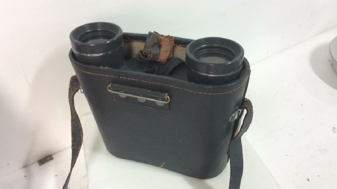 Vintage Feather Weight Binoculars w Case - 9