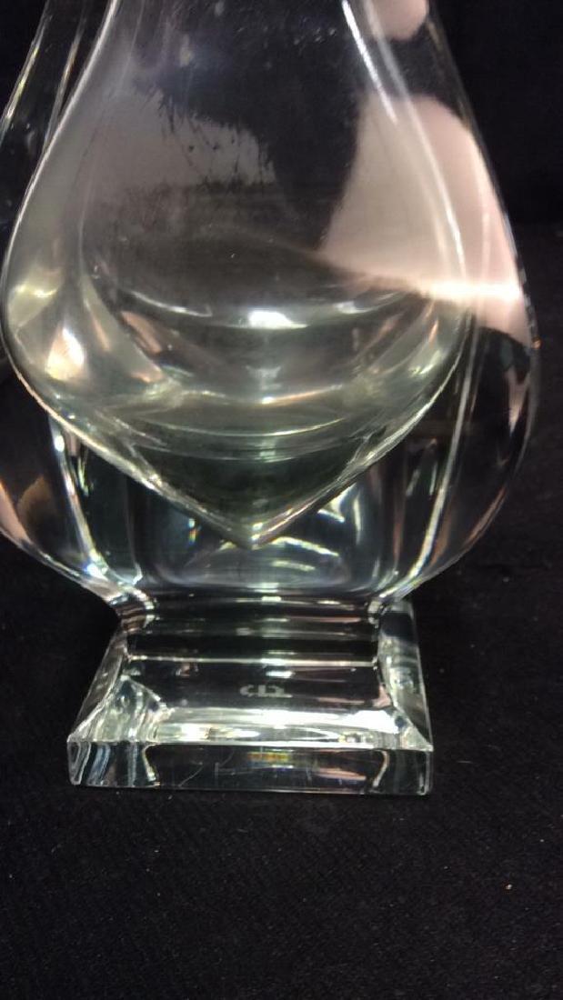 Serves France Footed Crystal Vase - 4