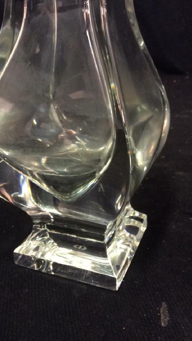 Serves France Footed Crystal Vase - 5