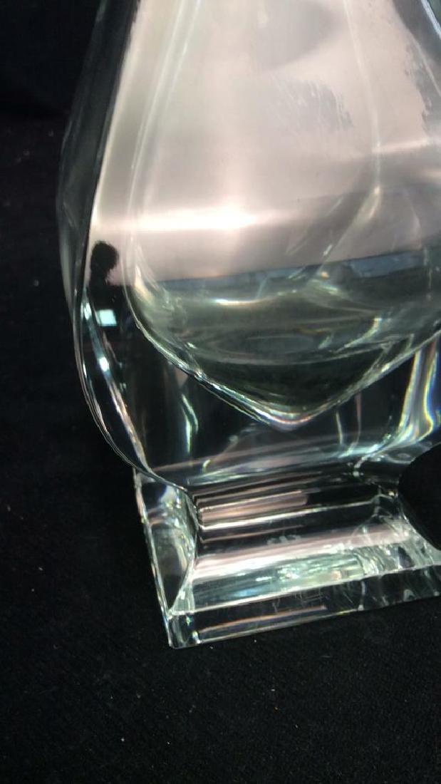 Serves France Footed Crystal Vase - 6