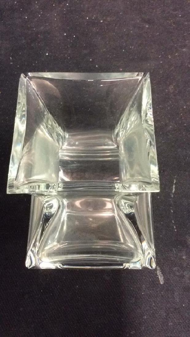 Serves France Footed Crystal Vase - 7