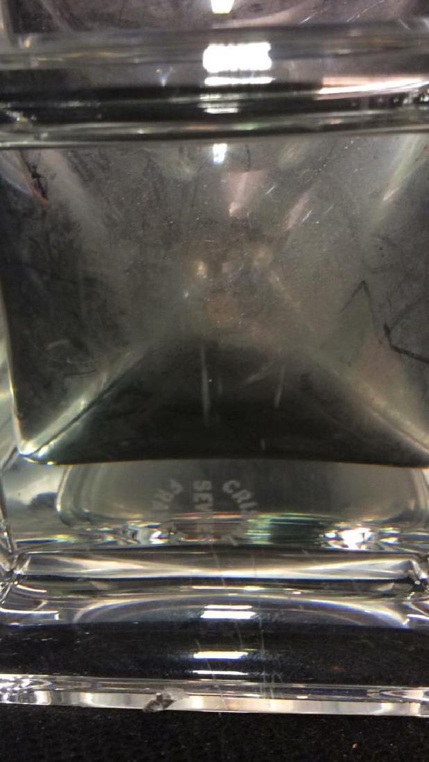 Serves France Footed Crystal Vase - 9
