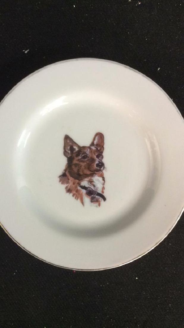 Group Fox Hunt Themed Porcelain Trinket Plates - 4