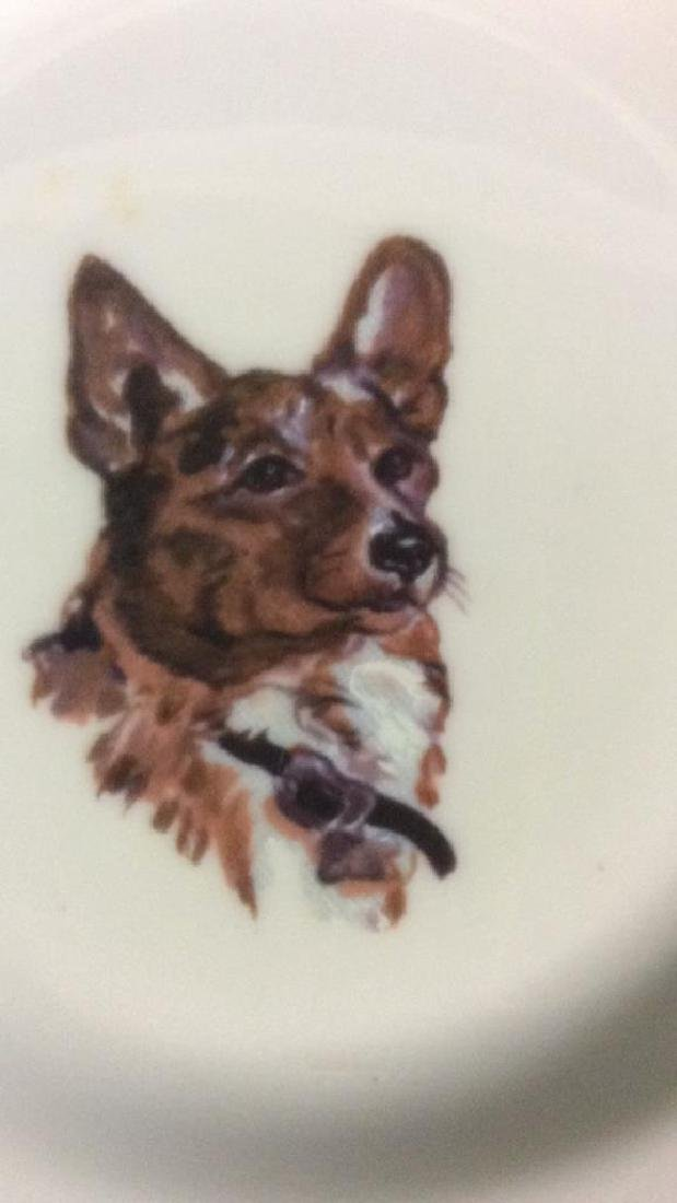 Group Fox Hunt Themed Porcelain Trinket Plates - 5