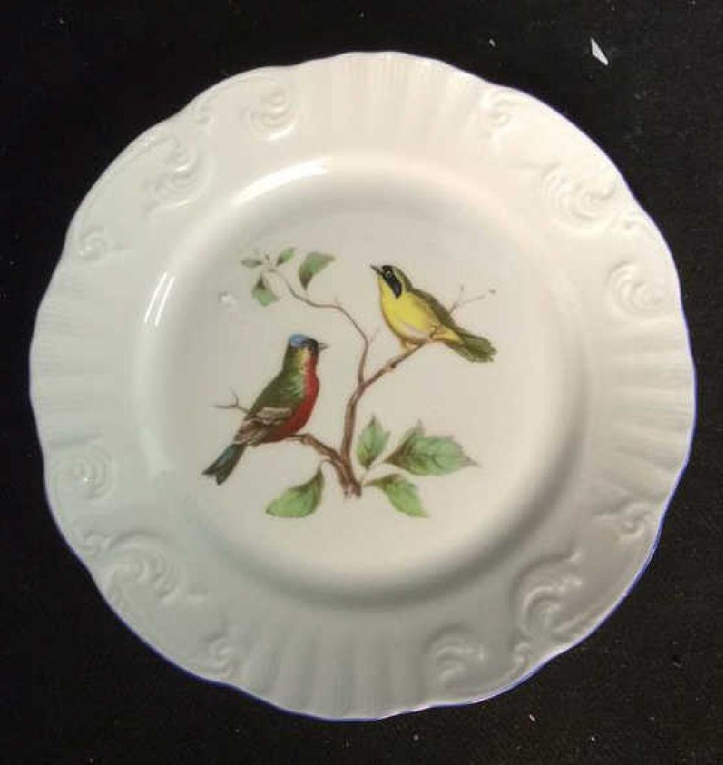 Porcelain Hand Painted Bird Plate Set 6, Portugal - 2