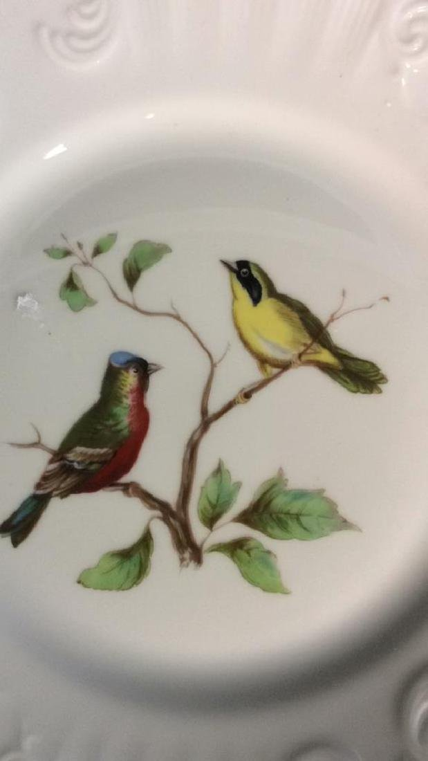 Porcelain Hand Painted Bird Plate Set 6, Portugal - 3