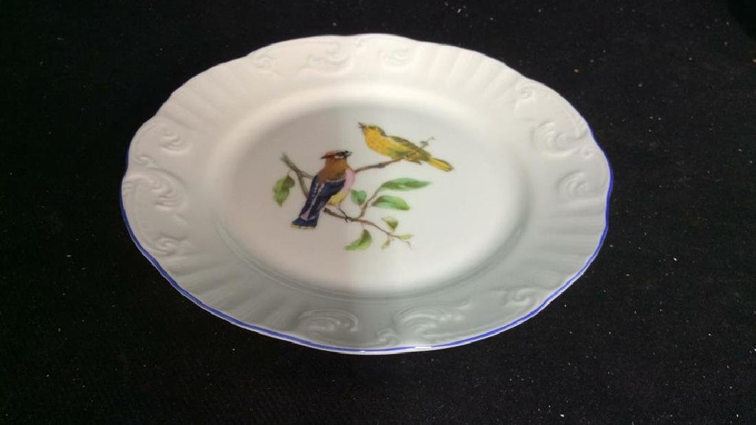 Porcelain Hand Painted Bird Plate Set 6, Portugal - 4