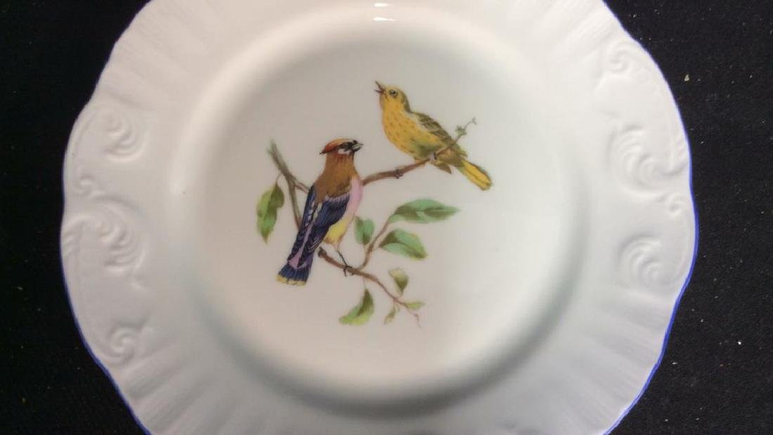 Porcelain Hand Painted Bird Plate Set 6, Portugal - 5