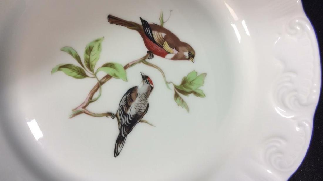 Porcelain Hand Painted Bird Plate Set 6, Portugal - 6