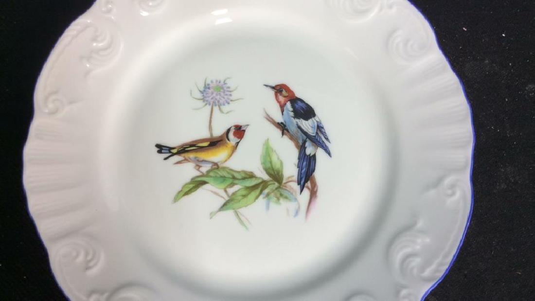 Porcelain Hand Painted Bird Plate Set 6, Portugal - 8