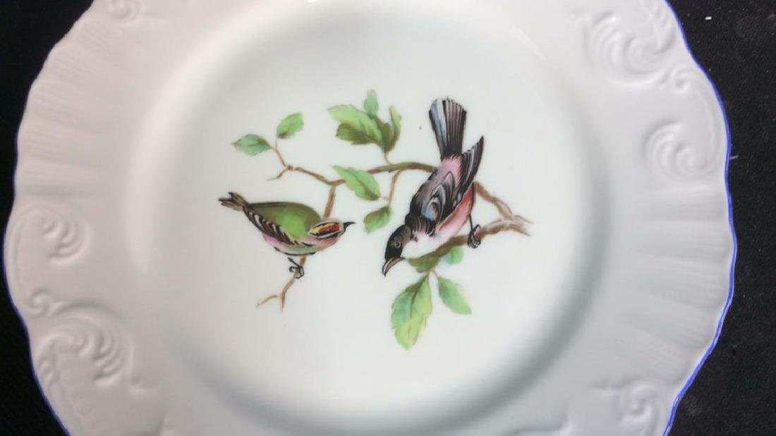Porcelain Hand Painted Bird Plate Set 6, Portugal - 9