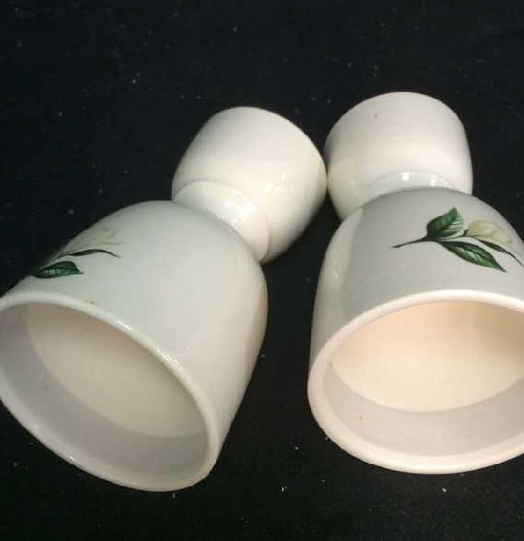 Group Lot Painted Ceramic egg cups, - 3