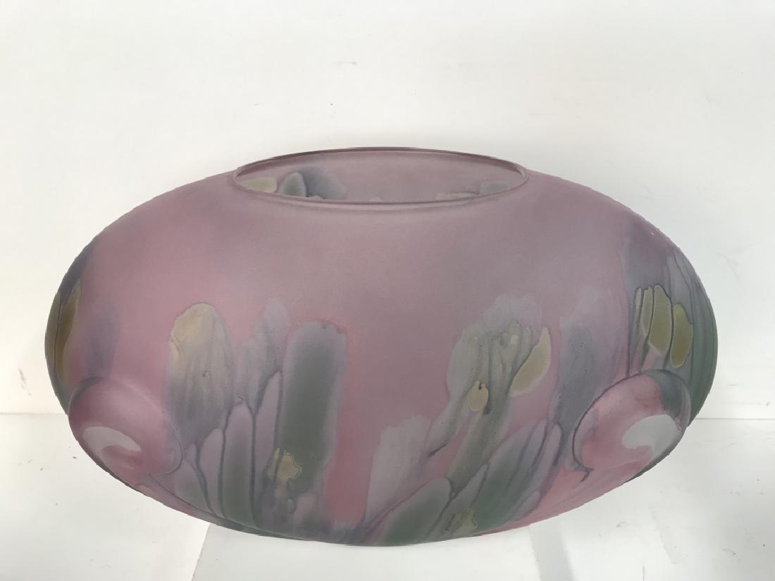 Painted Art GlassTable Centerpiece - 2