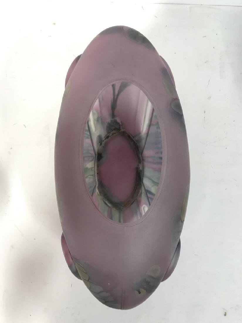 Painted Art GlassTable Centerpiece - 4