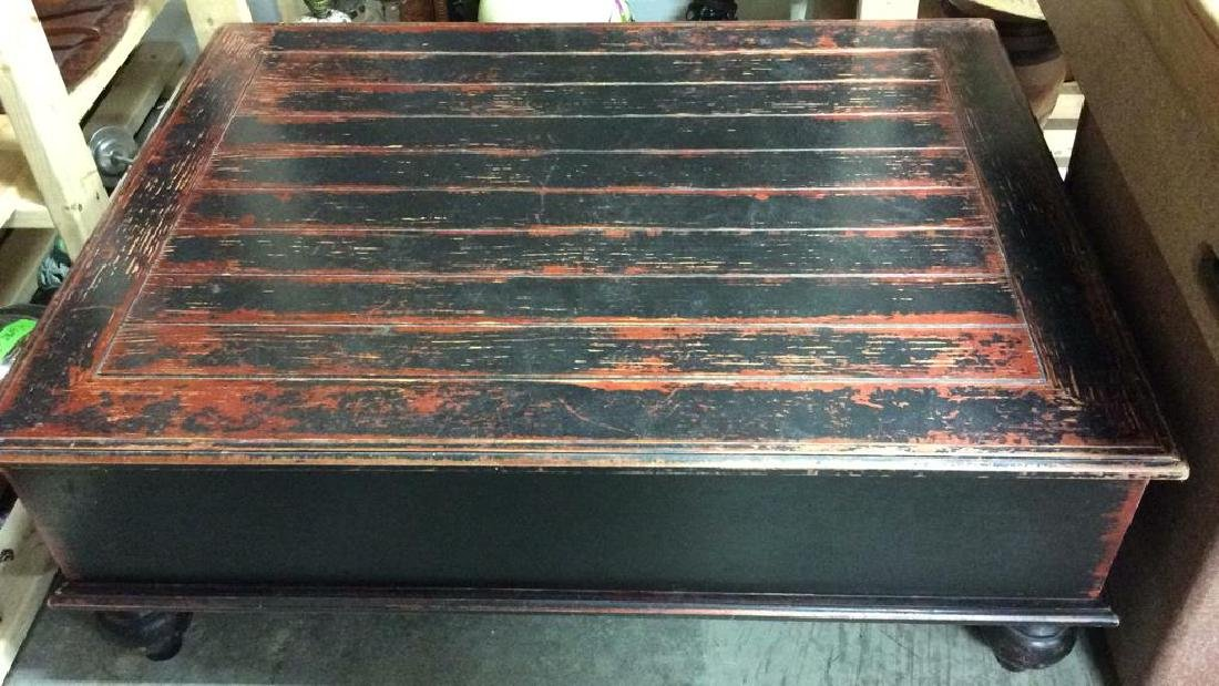 Weathered Painted Wooden Coffee Table