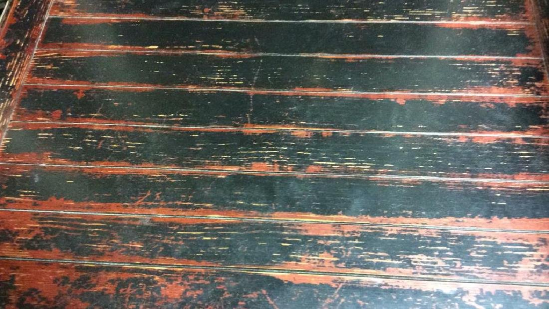 Weathered Painted Wooden Coffee Table - 2