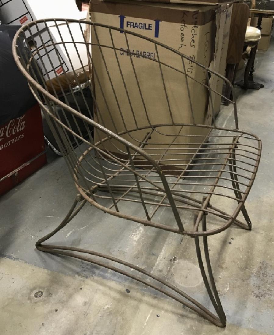 Vintage Metal Wire Garden Chair