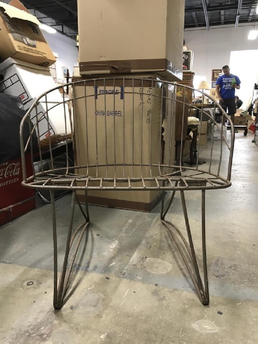 Vintage Metal Wire Garden Chair - 3