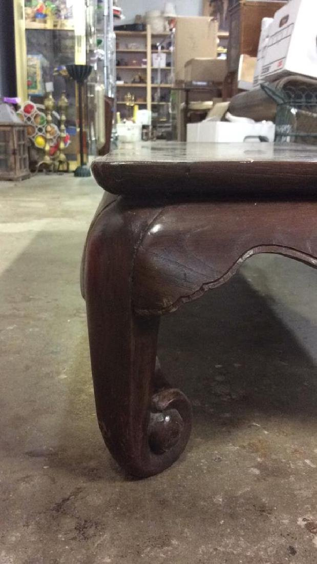 Brown Toned Wooden Asian Tea Table - 5