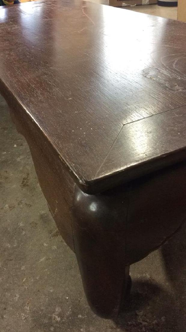Brown Toned Wooden Asian Tea Table - 8