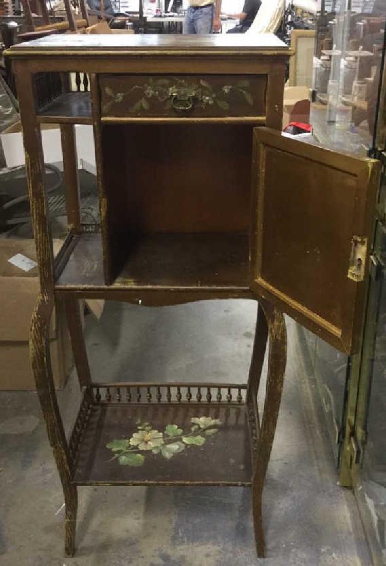 Vintage Floral Detailed Cabinet Display W Legs - 3