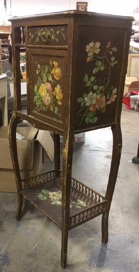 Vintage Floral Detailed Cabinet Display W Legs - 5