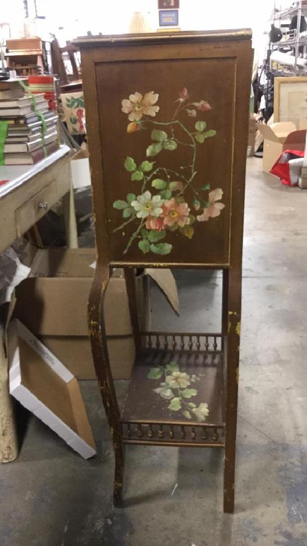 Vintage Floral Detailed Cabinet Display W Legs - 6
