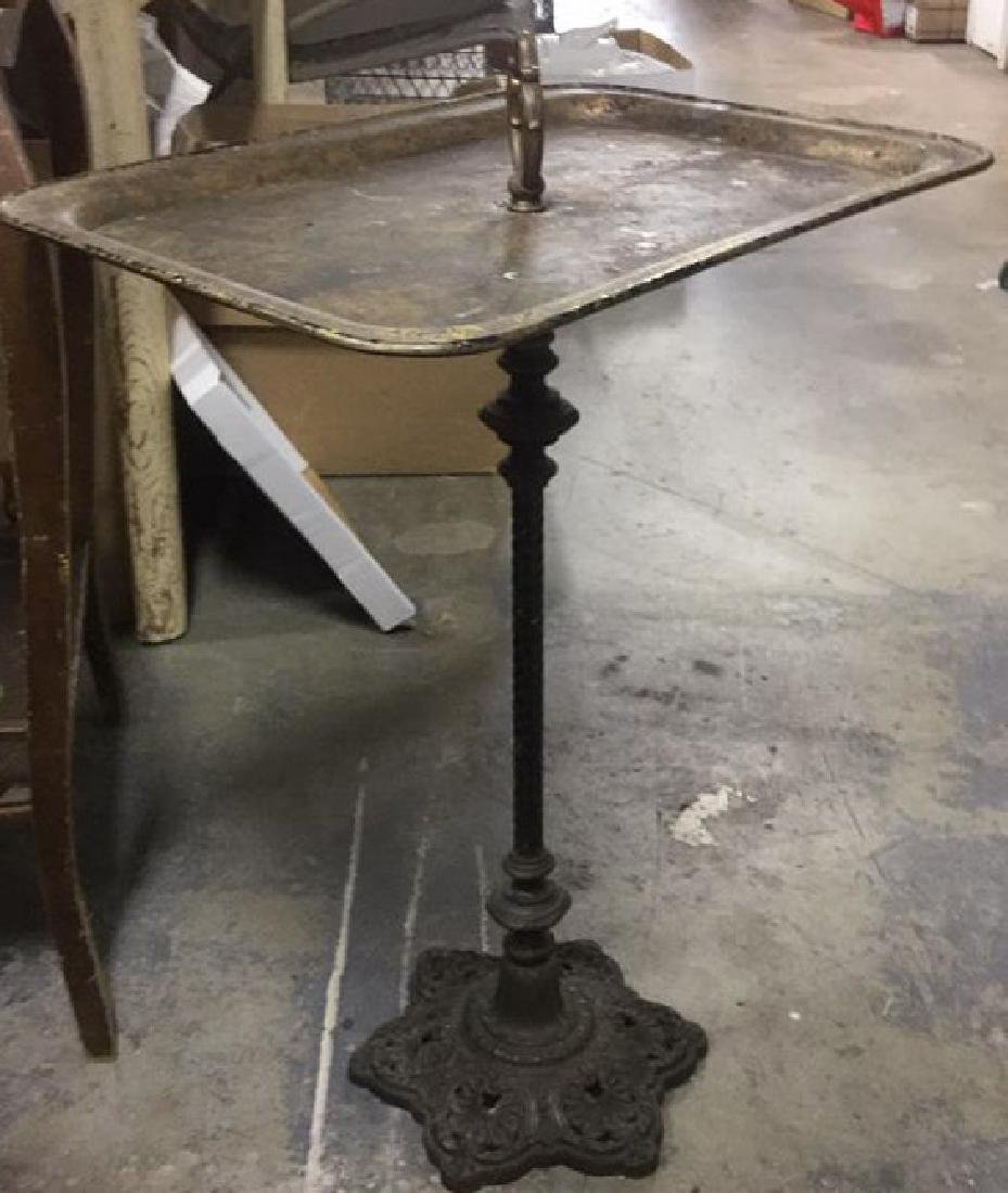 Vintage Poss Antique Metal Pedestal Tray Stand