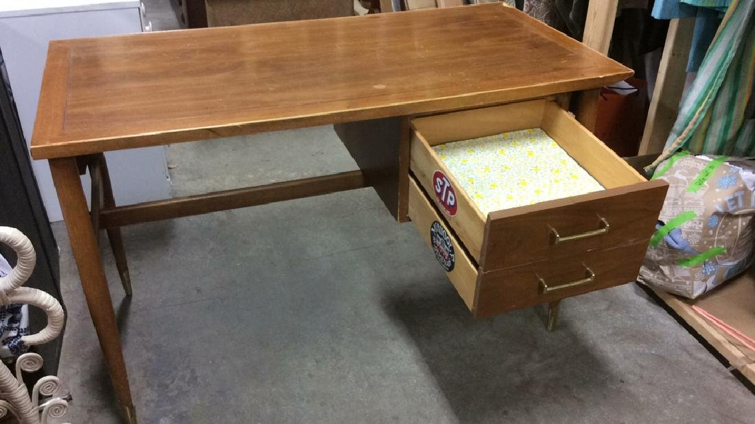 Lane Mid Century Modern Wooden Desk Table - 5