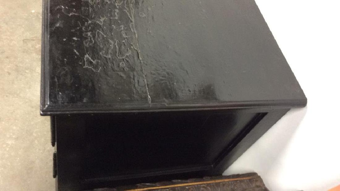 Black Toned Glossy Paint Console Table Cabinet - 6