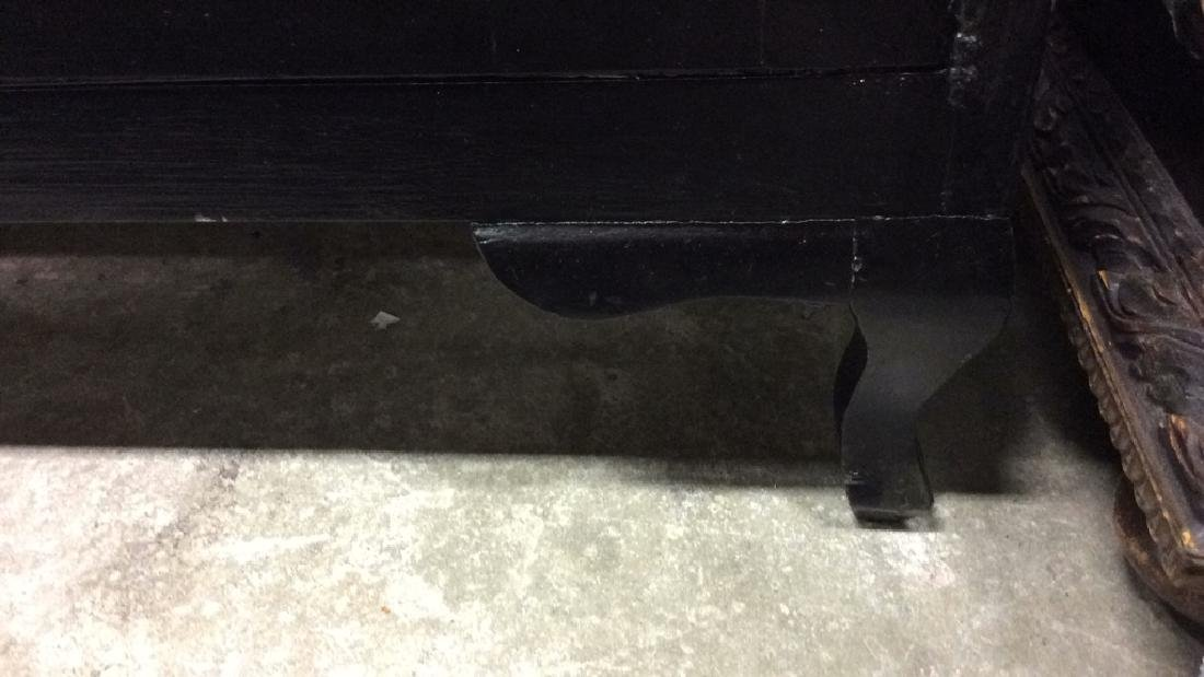 Black Toned Glossy Paint Console Table Cabinet - 8