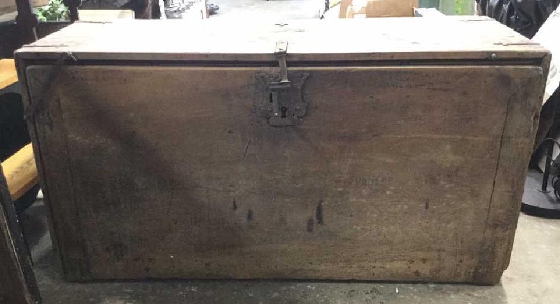 Antique Wooden Chest W 11 Interior Drawers