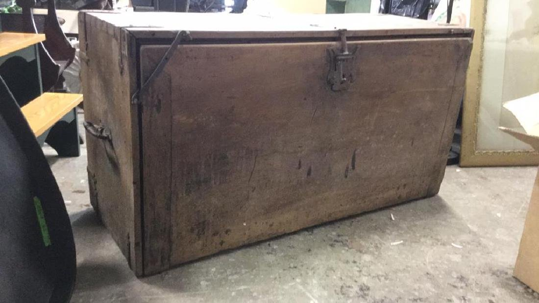 Antique Wooden Chest W 11 Interior Drawers - 4