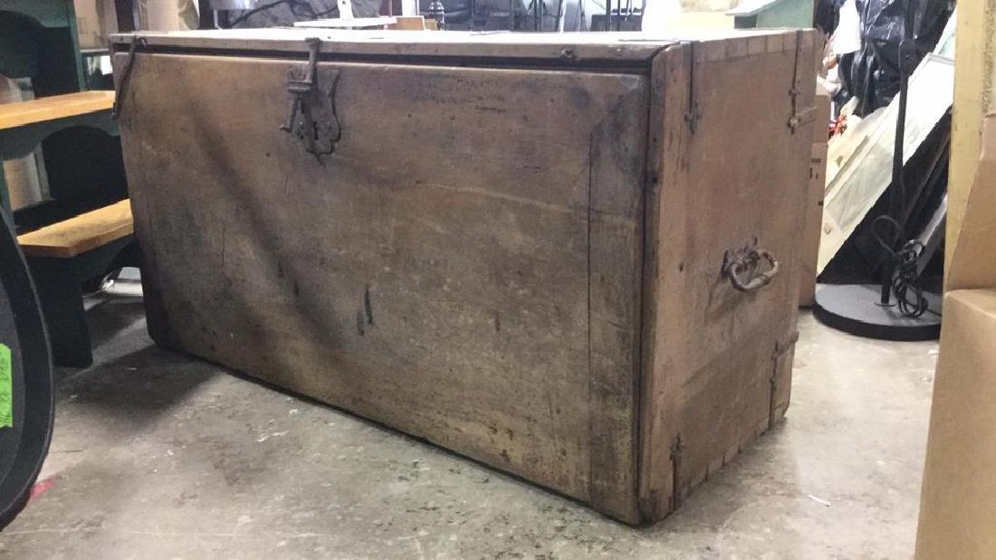 Antique Wooden Chest W 11 Interior Drawers - 5