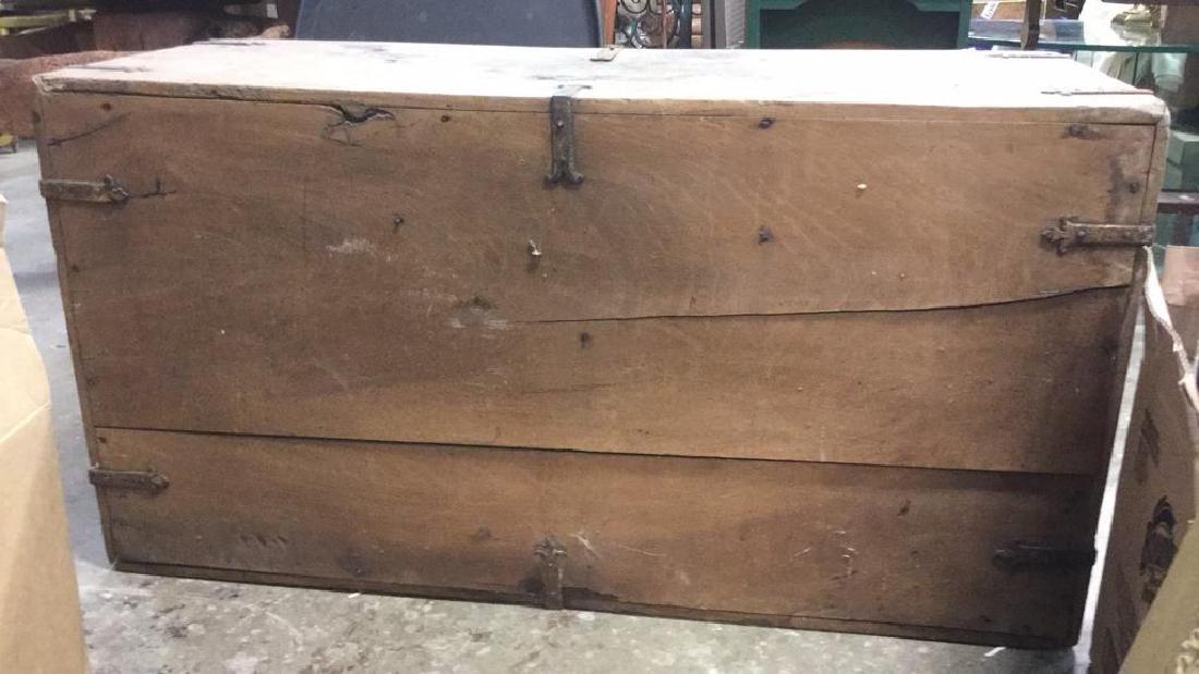 Antique Wooden Chest W 11 Interior Drawers - 8