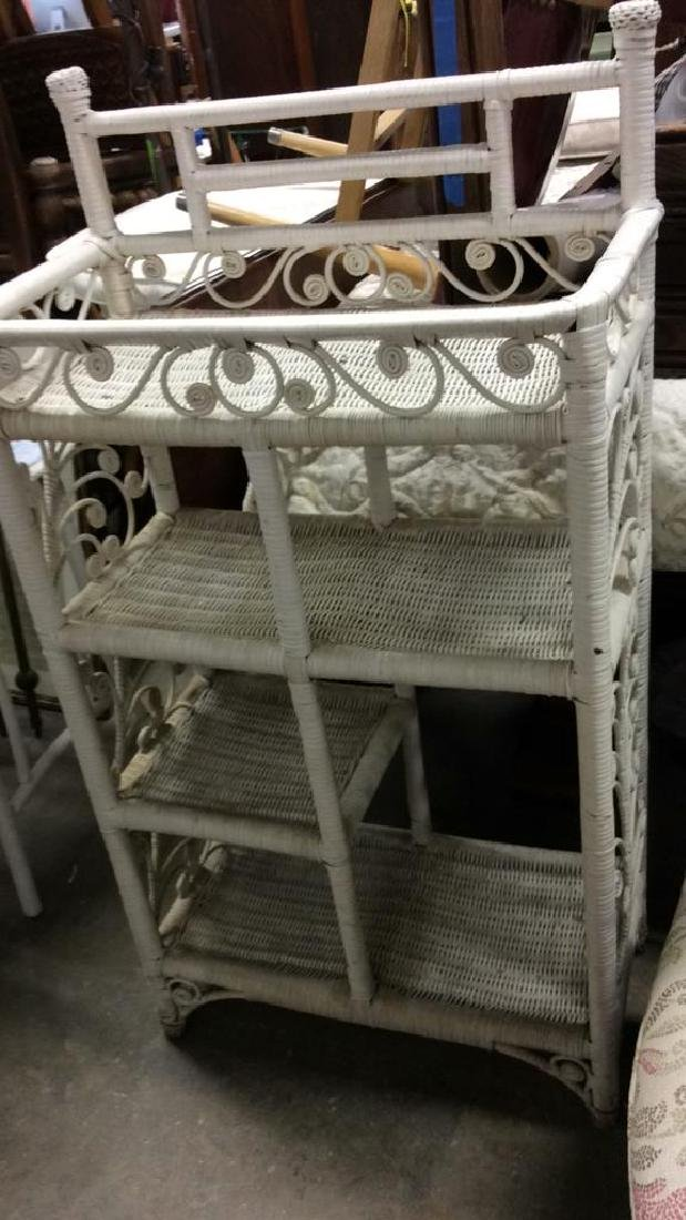 White Toned Whicker DIsplay Shelves