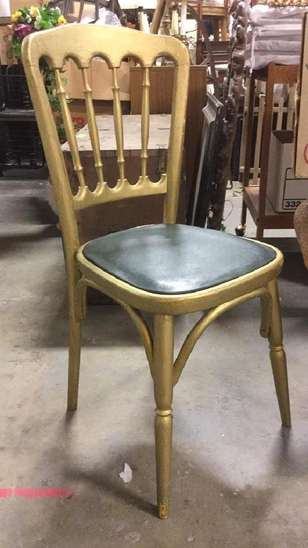 6 GRAISON Gold Toned Carved Wooden Chairs - 3